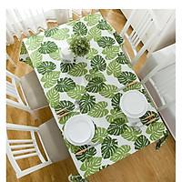 Khăn trải bàn canvas lá tropical - khăn trải bàn nhà hàng - phòng khách - phòng ăn KB36(140x180cm)