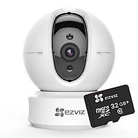 Camera IP Wifi Ezviz C6CN 720P (CS-CV246-B0-1C1WFR) + Thẻ nhớ Ezviz 32GB - Hàng chính hãng