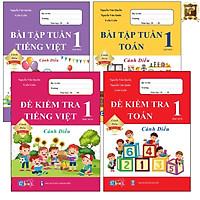Sách - Combo Bài Tập Tuần và Đề Kiểm Tra Lớp 1 Cánh Diều - Môn Toán và Tiếng Việt học kì 2 (4 cuốn)