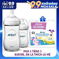 Bộ 2 Bình sữa mô phỏng tự nhiên hiệu Philips Avent (260ml) cho trẻ từ 1 tháng tuổi 693.23