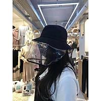 Mũ, nón vải thêu có tấm kính trong suốt chống dịch, chắn khói bụi - Giao hình ngẫu nhiên