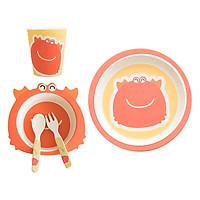 Bộ Dụng Cụ Ăn Uống Bằng Sợi Tre Cho Bé Bamboo Kids Preety Crab Binggio