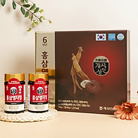 Cao hồng sâm linh chi Hàn Quốc (Chiết xuất sâm linh chi) - chiết xuất từ nhân sâm Hàn Quốc 6 năm tuổi và nấm linh chi, tăng cường sinh lực, phục hồi sức khỏe, tốt cho người mỡ máu, tiểu đường, huyết áp, dạ dày, chống lão hóa
