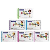 Combo 300 Từ Vựng Tiếng Anh Và Trò Chơi Ghép Chữ - Happy Vocabulary: Learning 1 Đến Learning 6 (Bộ 6 Tập)