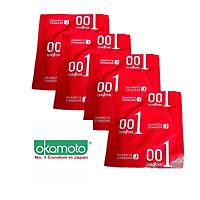 BCS Okamoto 0.01mm Mỏng Nhất Thế Giới PU Tàng Hình Chân Thật Hộp 4 Cái