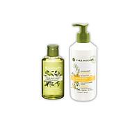 Combo Gel tắm Yves Rocher Bath & Shower Gel 200 ml - Olive Lemongrass + Sữa Dưỡng Thể Dành Cho Da Khô Và Rất Khô Yves Rocher Nutrition Lipid Replenishing Lotion 390ml
