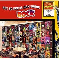 Decal Dán Tường Siêu Bền Chống Bay Màu Trang Trí Phòng Ngủ , Quán Baber , Cafe ...|Decal Chủ Đề Rock