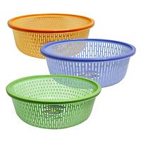 Combo 3 rổ nhựa tròn có viền Chấn Thuận Thành 40cm đựng đồ, đựng rau củ, đa năng tiện dụng, hàng Việt Nam Chất Lượng Cao (RV4020-3) nhiều màu