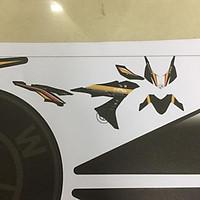 Tem rời dành cho xe Winner X HP4 Đen Đồng in mực cao cấp (bộ)
