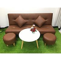 Bộ ghế sofa bed, sofa giường màu nâu cả bộ SB16