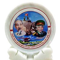 Đĩa Đá Trắng in hình Bác Hồ, Đại Tướng Võ Ngyên Giáp chiến dịch Điện Biên Phủ