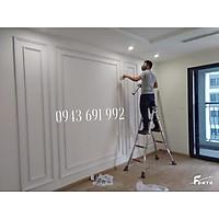 Chỉ kép hai lớp trang trí tường với phào 4cm trắng lệch sơn thay đổi màu