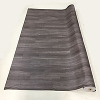Thảm nhựa simili trải sàn vân gỗ màu nâu đậm