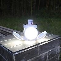 Bóng đèn tích điện năng lượng mặt trời có cánh hình hoa ( tặng kèm 1 bút thử điện )