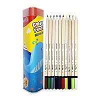 Bút Chì Màu Hộp Kim Loại Tam Giác SK-CP2004 (24 Màu/Hộp)