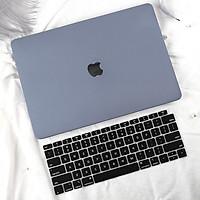 COMBO 3in1 - Case, ốp kèm phủ phím dành cho Macbook - Màu Xám + Phủ Đen [Tặng kèm nút chống bụi Macbook - Màu ngẫu nhiên] - Hàng chính hãng