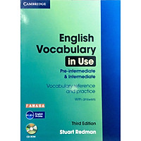 English Vocabulary in Use: Pre-Intermediate and Intermediate Book with Answers: Vocabulary Reference and Practice (Kèm CD)