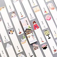 Bookmark đánh dấu sách họa tiết truyền thống Nhật 30 tấm