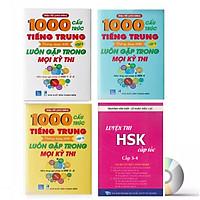 Combo 4 sách : 1000 Cấu Trúc Tiếng Trung Thông Dụng Nhất Luôn Gặp Trong Mọi Kỳ Thi Tập 1 + Tập 2 + Tập 3 và Luyện thi HSK cấp tốc tập 2- tương đương HSK3 -HSK4 (kèm CD)