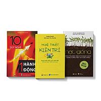 Bộ 3 cuốn sách Nghệ thuật kiên trì + 10 suy nghĩ không bằng 1 hành động + Hạt giống