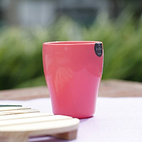 Cốc uống nước cao cấp có tay cầm màu hồng - Hàng Nội Địa Nhật