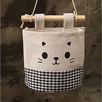 Giỏ treo đựng đồ mặt mèo deco tường nhà xinh GV03