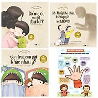 Combo sách giúp con bảo vệ bản thân: Giáo dục giới tính nhi đồng - Bố Mẹ Ơi, Con Từ Đâu Tới + Khi Thấy Khó Chịu Kiên Quyết Nói Không + Con Trai, Con Gái Khác Nhau Ạ? + Poster an toàn cho bé