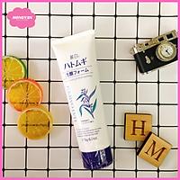 Sữa rửa mặt sáng da giảm mụn kháng viêm se khít chân lông Hatomugi 170g Nhật Bản tặng thun buộc tóc