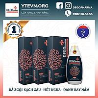 Combo 03 dầu gội sạch gàu hết ngứa Dego Pharma chiết xuất hoàn toàn từ thiên nhiên an toàn với người sử dụng có dung tích 80ml