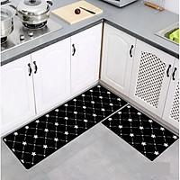 Bộ 2 thảm nhà bếp (40*60 + 40*120 cm) cao cấp chống trượt