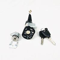 Bộ ổ khoá 8 cạnh gồm khóa yên và khóa xe cho Wave RSX loại 2 dây Green Networks Group