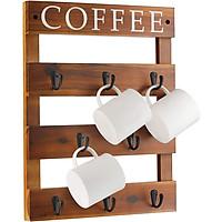 Kệ treo cốc cafe, giá đỡ ly cà phê, decor trang trí tường bằng gỗ