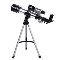 Kính thiên văn cho người lớn mới bắt đầu Kính viễn vọng khúc xạ thiên văn khẩu độ 74mm 350-400mm với điện thoại có giá ba chân có thể điều chỉnh