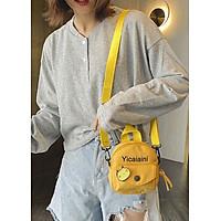 Túi đeo chéo nữ mini siêu cute có túi nhỏ bên ngoài-916
