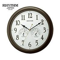 Đồng hồ treo tường Nhật Bản RHYTHM 8MGA37SR06 – KT 33.0×4.7cm, Dùng PIN.  Đo Độ ẩm, nhiệt độ.