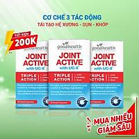 Combo 3 hộp Viên Sụn Khớp Goodhealth Joint Active - Với UC2 Tái Tạo Và Duy Trì Sụn Khớp - Giúp Khớp Khỏe Dễ Dáng Vận Động – 100% Chính Hãng Từ New Zealand