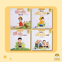 Set 4 Cuốn Cảm Xúc Của Con (2 Cuốn Thơ - 2 Cuốn Truyện Kể) - Sách Đọc To Cho Bé 0-3-4-5-6 Tuổi