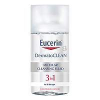 Nước Tẩy Trang Dịu Nhẹ Cho Da Nhạy Cảm Eucerin Dermato Clean Micellar Cleansing Fluid 3 In 1 (125ml)