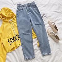Quần baggy - quần jean baggy nữ cạp cao MaiAnh.88 phong cách Street style 3 size S M L hack chân dài miên