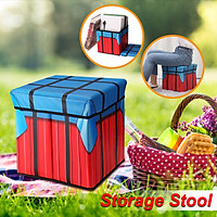 20*20*20cm Folding Stool Storage Ottoman Box Home Chair Footstool Kids Toy Container W/ Lid