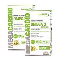 Combo 2 Thực phẩm chức năng dầu cá omega-3 không cholesterol Mega Cardio