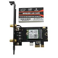 Card WIFI PC 8260 AC tích hợp Bluetooth 4.2 tốc độ 867Mbps cho máy bàn dùng chip Intel AC8260