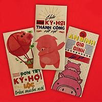 Xấp Bao Lì Xì Kraft Nhật Bản Heo Chúc Tết