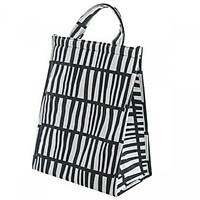 Túi đựng cơm cỡ đại, túi giữ nhiệt vải Oxford hoạ tiết hình học (size 26x15x35 cm)
