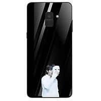 Ốp kính cường lực cho điện thoại Samsung Galaxy A8 Plus - Tôi Yêu B.T.S MS TYBTS012