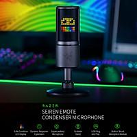 Razer Seiren Emote USB Condenser Microphone with 8-Bit Emoticon LED Display Supercardioid Microphone Shock Absorption