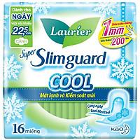 Băng Vệ Sinh Laurier Super Slimguard Cool Mát Lạnh & Kiểm Soát Mùi 22,5cm - 16 Miếng