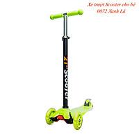 Xe trượt scooter 3 bánh phát sáng, an toàn cho trẻ em chịu lực 40kg phù hợp cho cả bé trai và gái, rèn luyện vận động, tăng chiều cao cho bé - Hàng chính hãng Cougar 0072