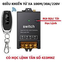 [MẪU MỚI 2021 ] Bộ công tắc điều khiển từ xa rf công suất lớn 100m/3000W/220V- bật tắt máy bơm nước máy rửa xe, đèn...vvv