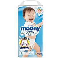 Bỉm - Tã quần Moony Blue size L Boy 44 miếng (Cho bé 9~14kg)